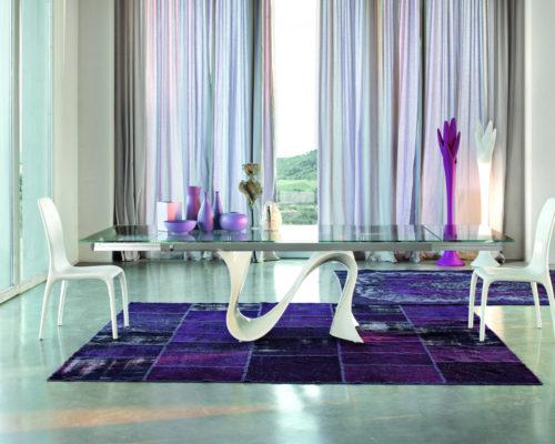 Tonin Casa White Wave Dining Table