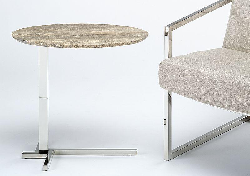 Stone Intl 0364-B-STEEL-WTR accent table