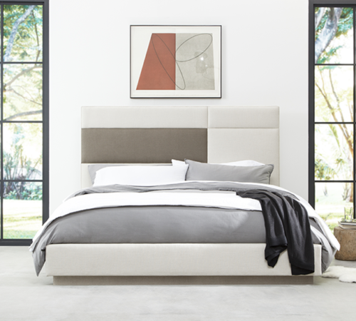 Weiman Upholstered Quadrant Bed