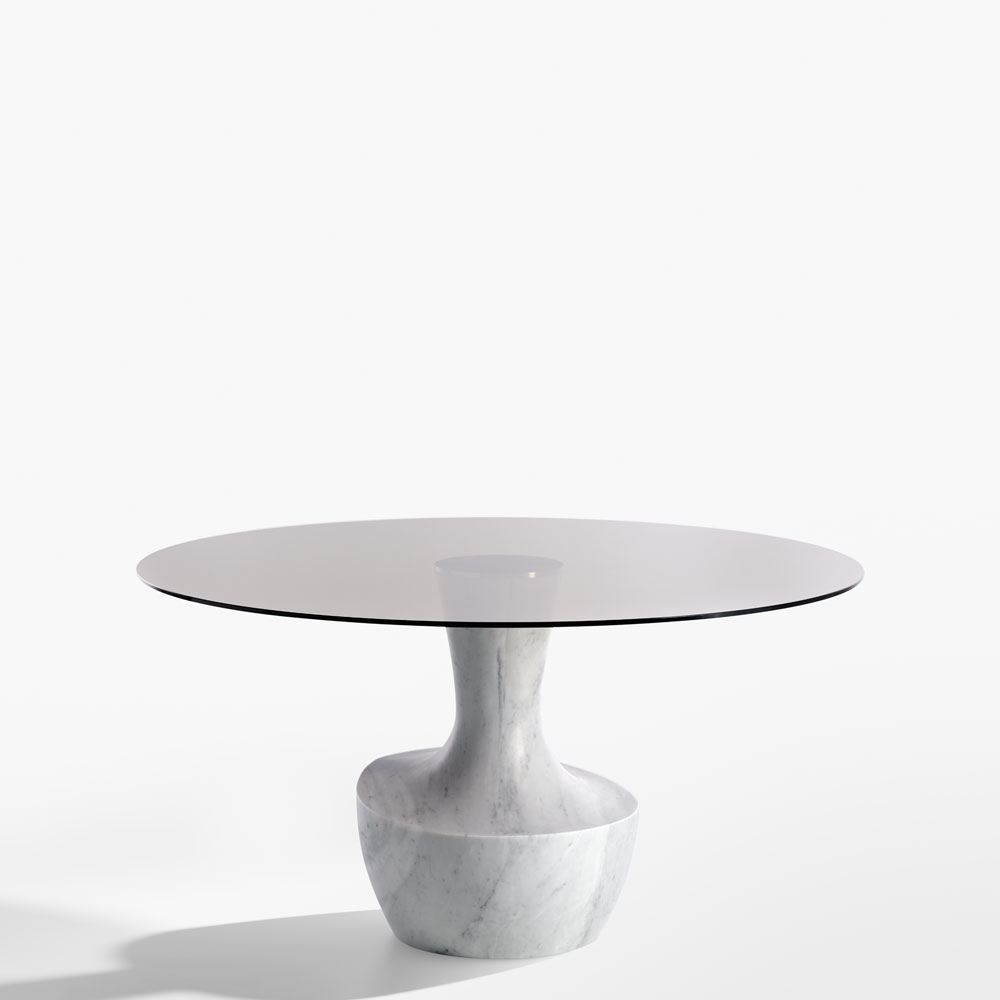 Potocco anfora dining base in marble