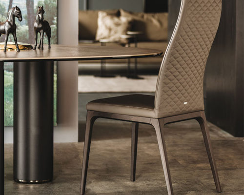 Dining chairs Cattelan Italia style Arcadia Couture high back