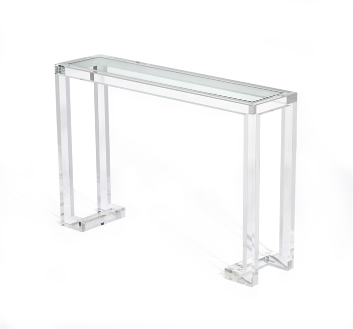 Interlude Ava console clear acrylic