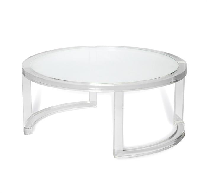 Interlude Ava acrylic cocktail table