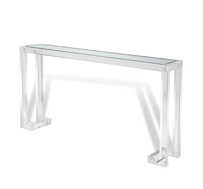 Interlude Ava large console clear acrylic
