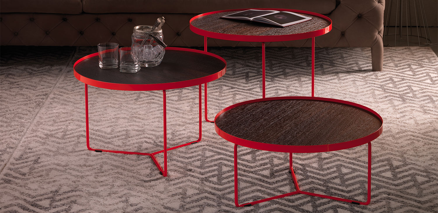 Cattealn Italia Billy lacquer & wood tables