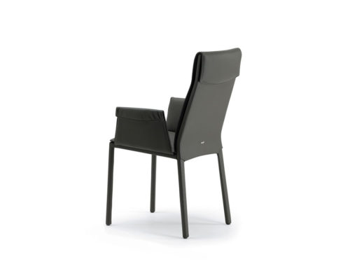 Dining chairs Cattelan Italia style Isabel high back arm chair