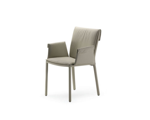 Dining chairs Cattelan Italia style Isabel low back arm chair