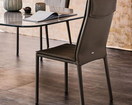 Dining chairs Cattelan Italia style Isabel high back chair