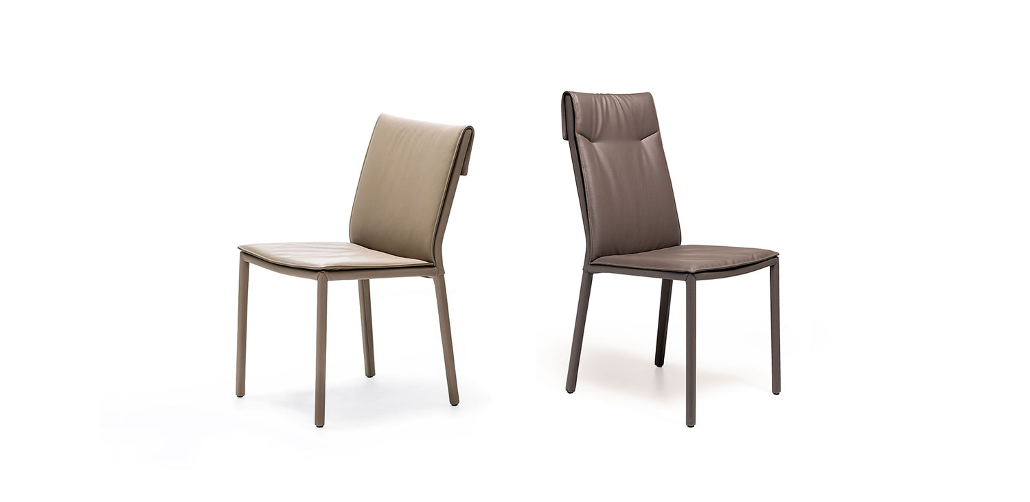 Dining chairs Cattelan Italia style Isabel low & high back chairs
