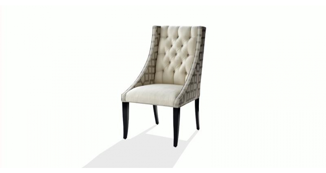 Dining Chairs Nathan Anthony style Leslie tufted chair