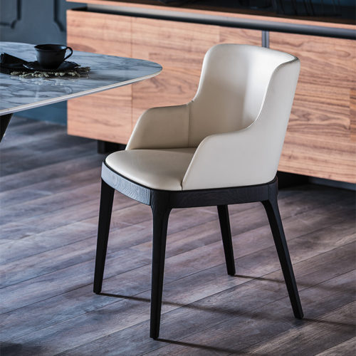 Dining chairs Cattelan Italia style Magda low back arm chair