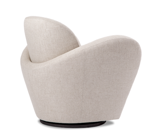 Weiman Miami swivel chair side & back view