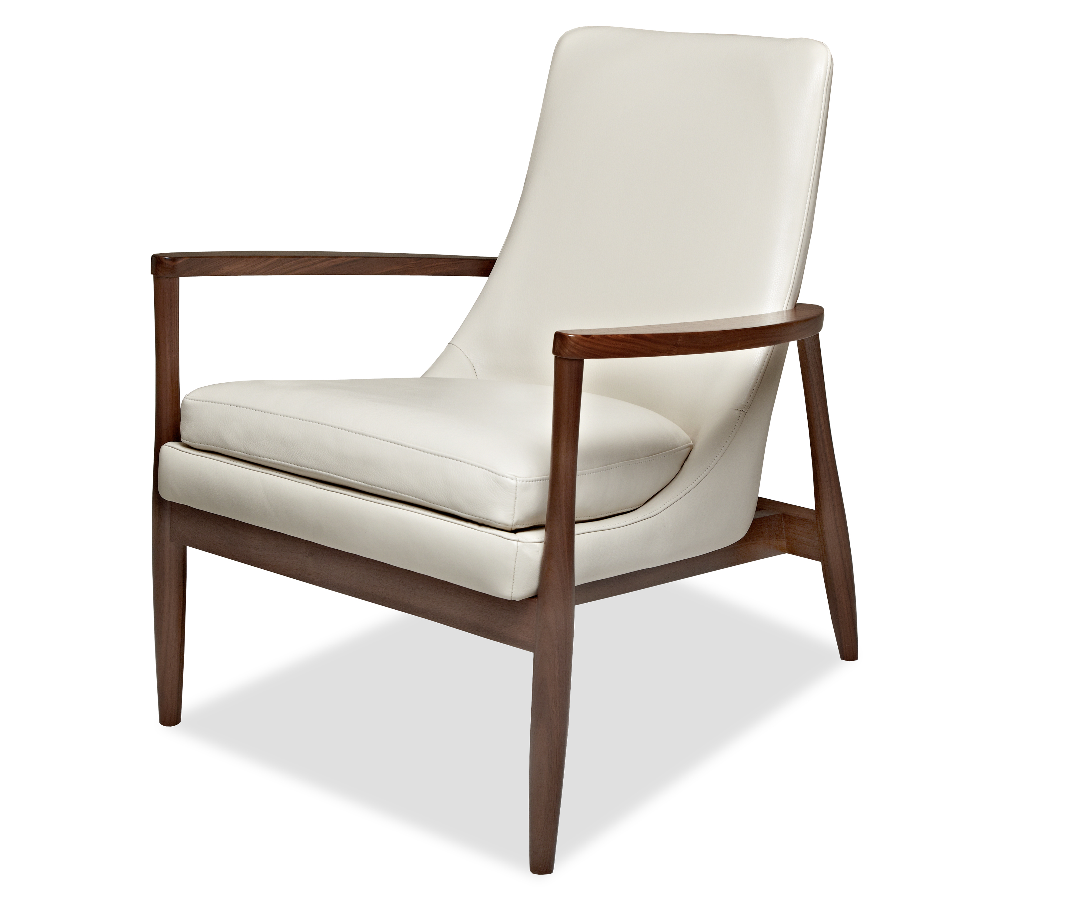 American Leather solid walnut collection Aaron chair