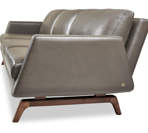 American Leather Solid Walnut collection Nash sofa