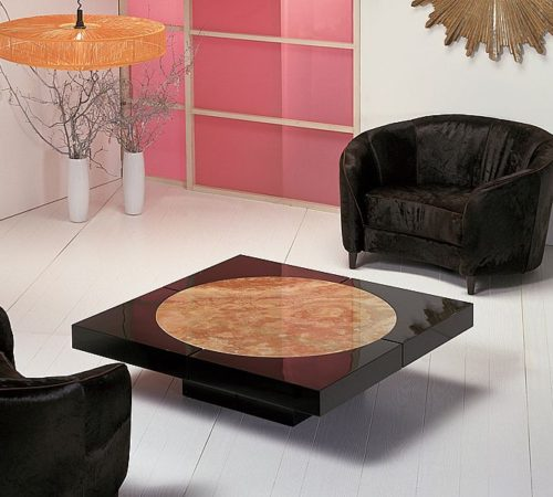 Stone Intl moon cocktail table
