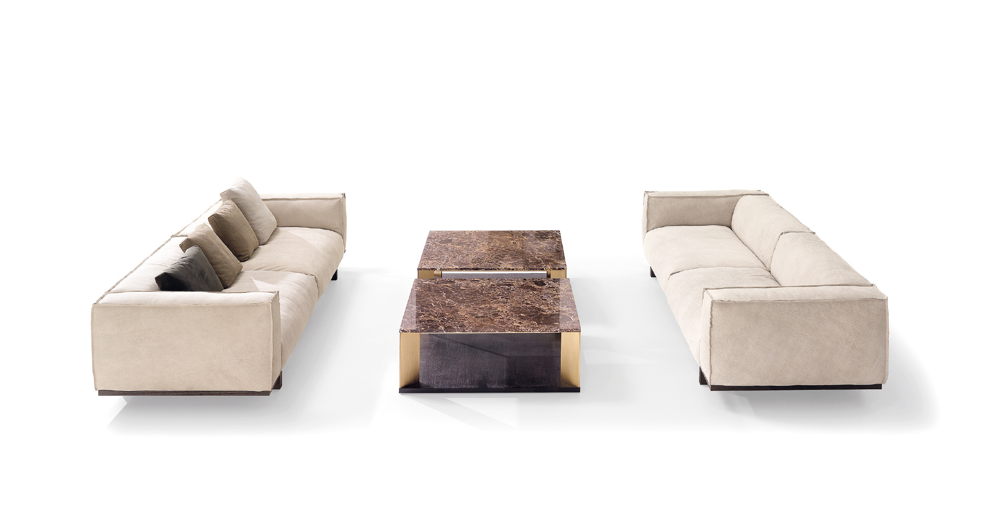 Mobil Fresno Interi Vision Nuvola sofas & twin tables