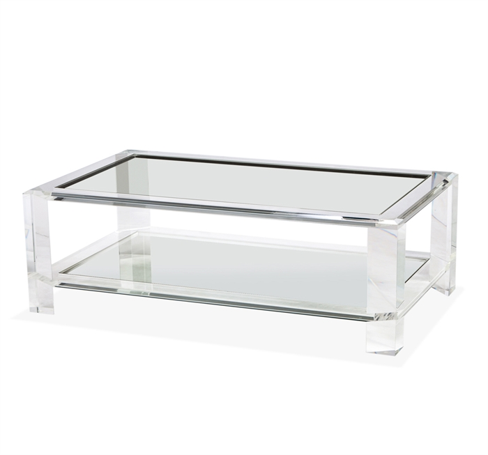 Interlude Surrey acrylic cocktail table