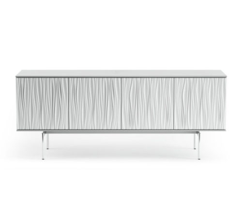 Tanami-7109-BDI-media-storage-credenza-satin-white-1