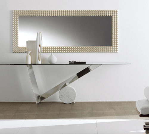 Cattlan Italia Valentinox stainless steel & marble base console