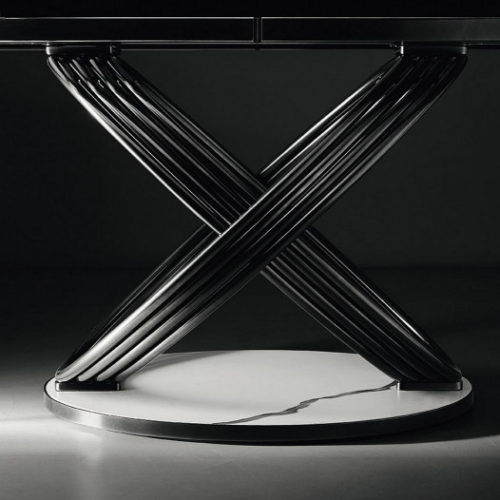 Bontempi Casa fusion dining base close up