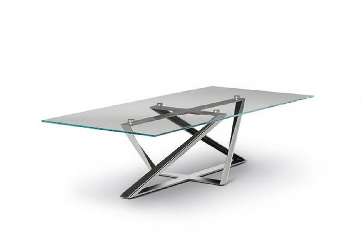 Bontempi Casa millenium dining glass top
