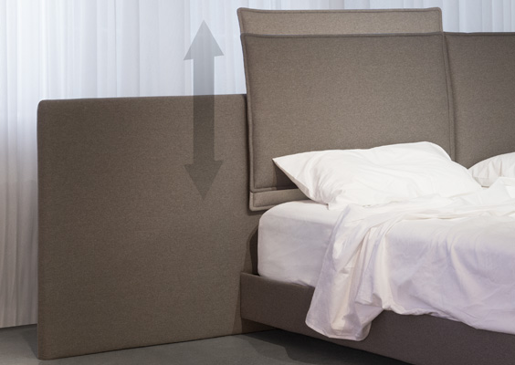Trica Nest bed adjustable headboard