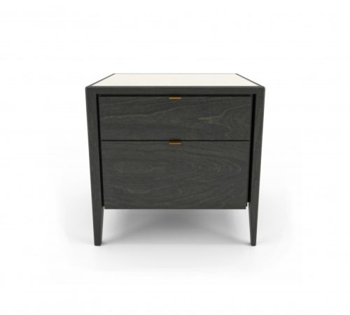HUPPE WINSTON TWO DRAWER NIGHT STAND